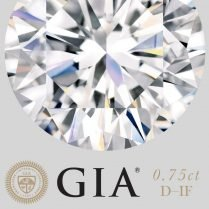 Diamante certificado por GIA (0,75ct D IF)