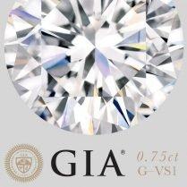 Diamante certificado por GIA (0,75ct G VS1)