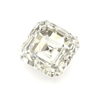 Diamante talla cuadrada esmeralda
