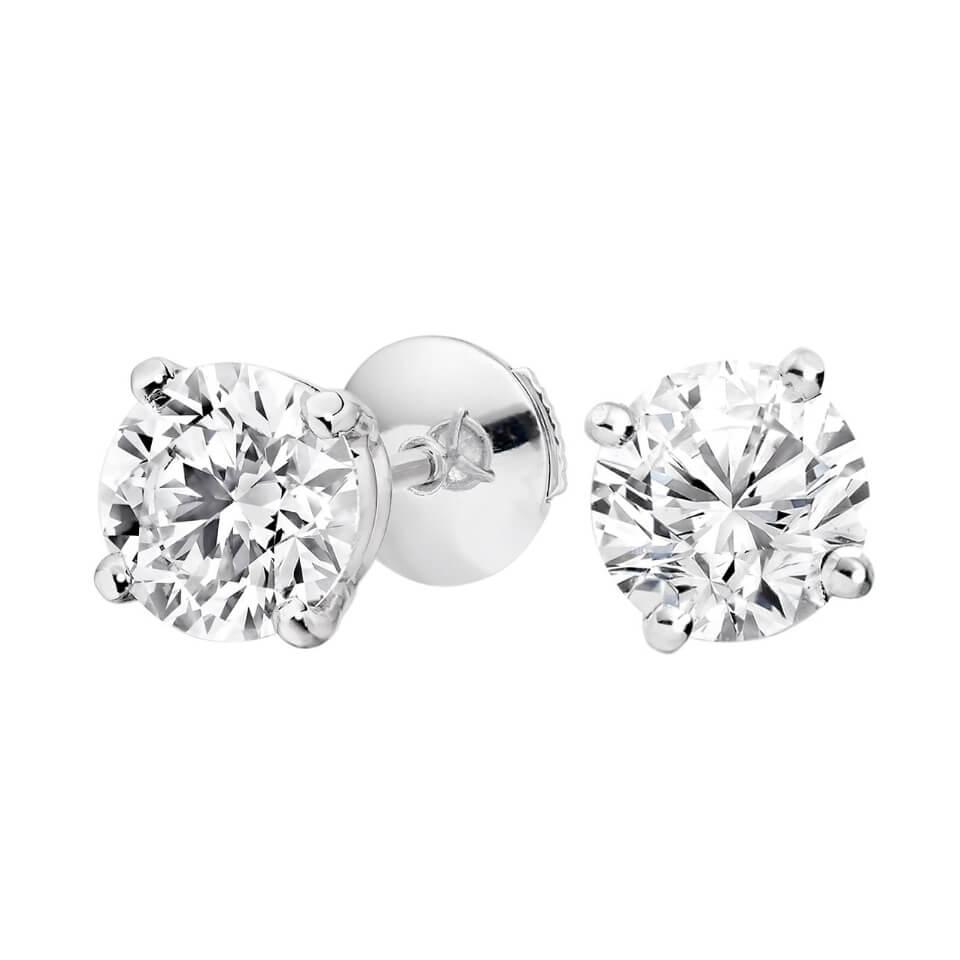 Pendientes diamantes solitarios