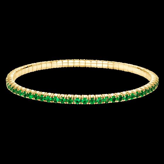 Pulsera de oro con esmeraldas