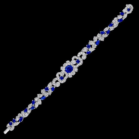 Pulsera de zafiros con diamantes