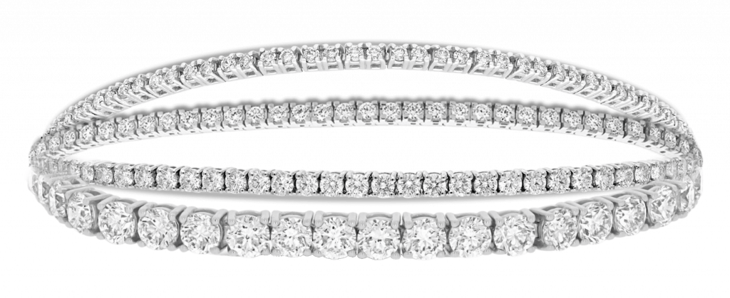Pulseras riviere de diamantes a medida