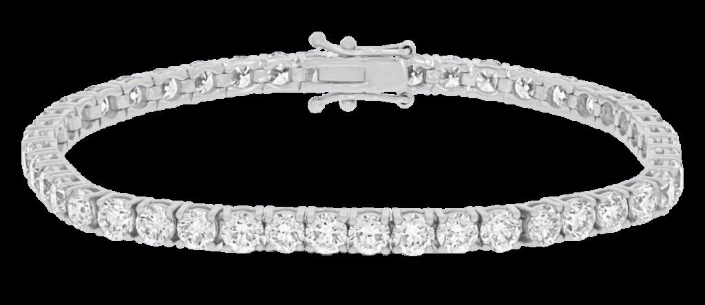 Pulseras de oro blanco con diamantes